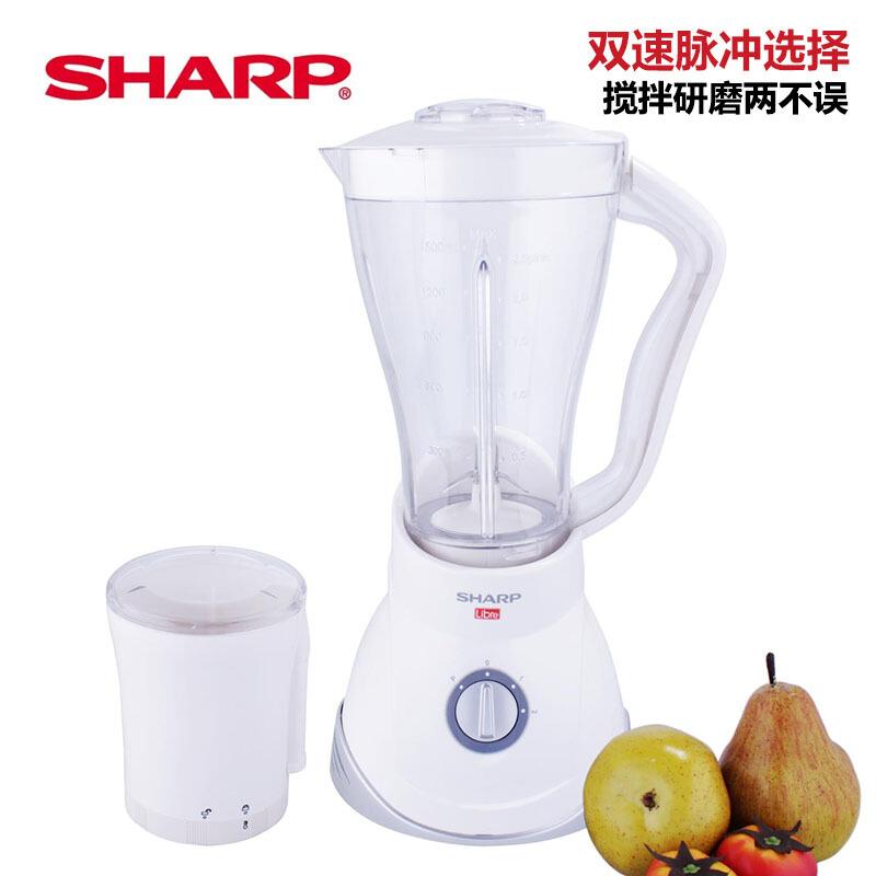 夏普(Sharp)搅拌机家用多功能辅食料理 榨水果原汁机EM-125L(W)